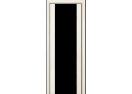 Дверь 8X ЭшВайт Мелинга Чёрный триплекс