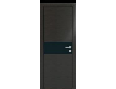 Дверь 4Z Венге Кроскут Черный лак