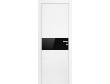 Дверь 4Z ЭшВайт Кроскут Черный лак