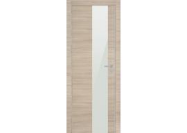 Дверь 5Z Капучино Кроскут Белый Лак