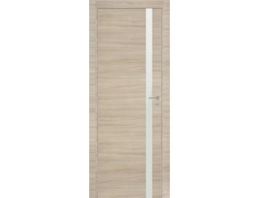 Дверь 6Z Капучино Кроскут Белый Лак