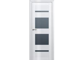 Дверь 72L Белый люкс графит