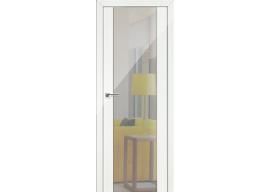 Дверь 8L Белый люкс зеркальный триплекс