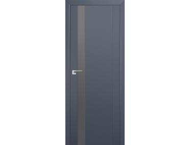 Дверь 62U Антрацит, серебряный лак