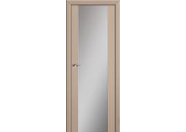 Дверь 8U Капучино сатинат, зеркальный триплекс
