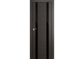 Дверь 63x Грей мелинга, чёрный лак