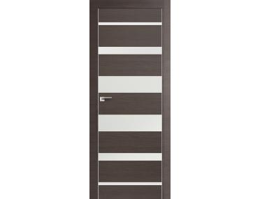 Дверь 18Z Грей Кроскут, Белый глянец