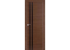 Дверь 19Z Малага Черри Кроскут, Черный глянец