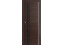 Дверь 19Z Венге Кроскут, Черный глянец