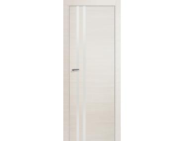 Дверь 19Z ЭшВайт Кроскут, Белый глянец