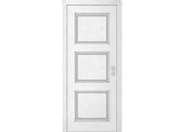 Дверь Квадро ДГ, Эмаль серебро