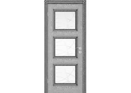 Дверь Квадро ДО, Эмаль графит