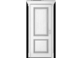 Дверь Валенсия ДГ, Эмаль серебро