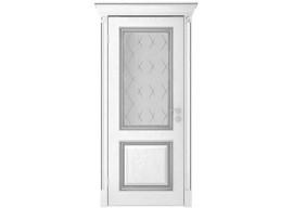 Дверь Валенсия ДО, Эмаль серебро
